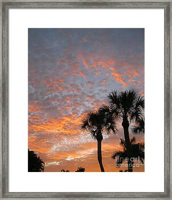 Rise And Shine. Florida. Morning Sky View Framed Print