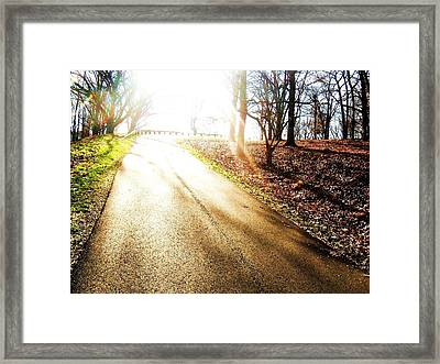 Rise Framed Print by Christian Rooney