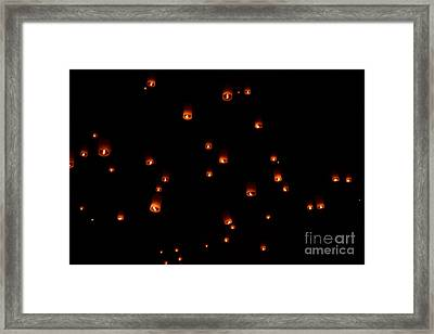 Rise Festival Lanterns 2014 Horizontal Sky Only Number One Framed Print