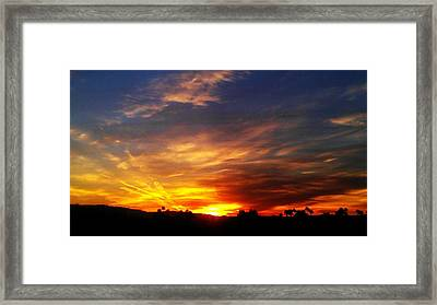 Framed Print featuring the photograph Rise N Shine by Chris Tarpening