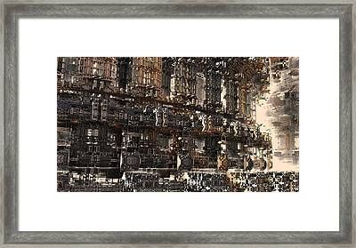 Rise Of The Machine Framed Print by Hal Tenny
