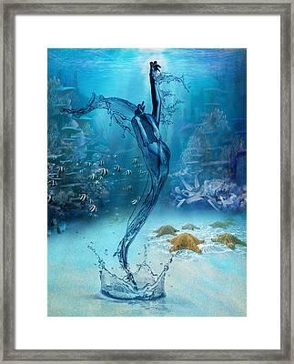 Rise Of The Sea Goddess Framed Print
