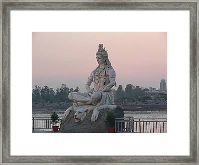 Framed Print featuring the photograph Rishikesh by Geeta Biswas