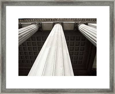Rising Columns Framed Print by David Rosenthal