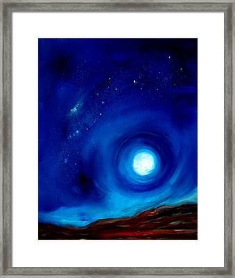 Rising Desert Moon Framed Print