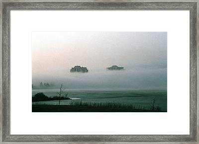 Rising From The Mist Framed Print by David Porteus