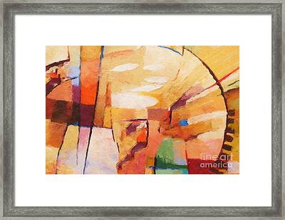 Rising Framed Print by Lutz Baar