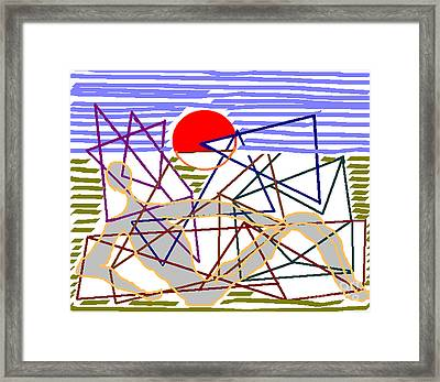 Rising Framed Print by Meenal C