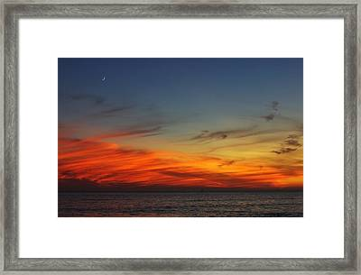 Rising Moon Framed Print