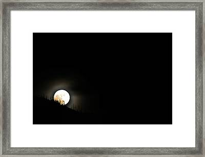 Framed Print featuring the photograph Rising Moon by Joel Loftus
