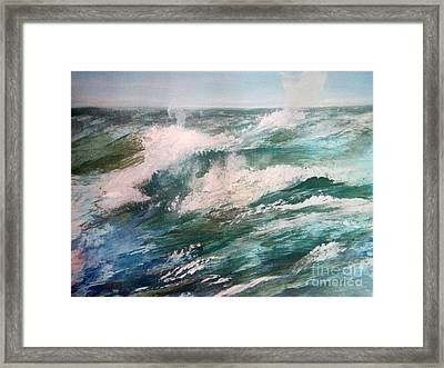 Rising Spume Framed Print by Trilby Cole