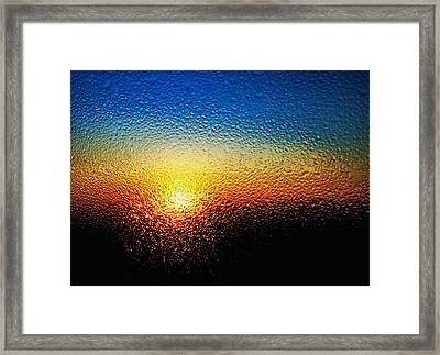Rising Sun Framed Print by Tom Druin