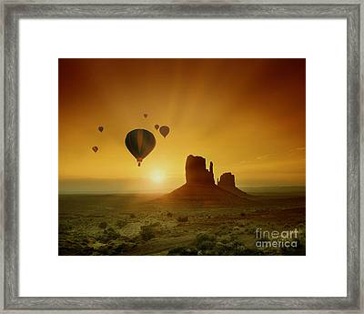 Rising To The Sun Framed Print