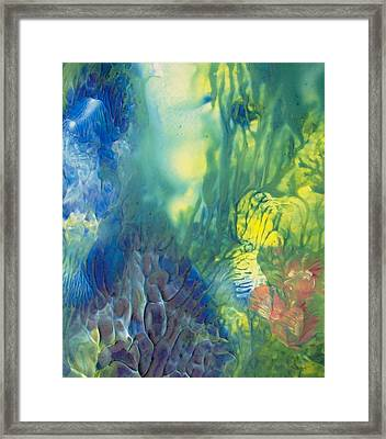 Rising To The Surface Framed Print