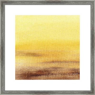 Rising Yellow Abstract  Framed Print by Irina Sztukowski