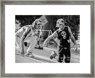 Rising Zombies Framed Print by Renee Barnes