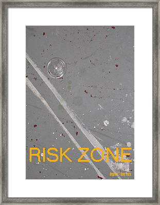 Risk Zone Framed Print by Ingrid Van Amsterdam