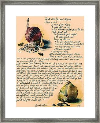 Risotto With Pears Framed Print by Alessandra Andrisani