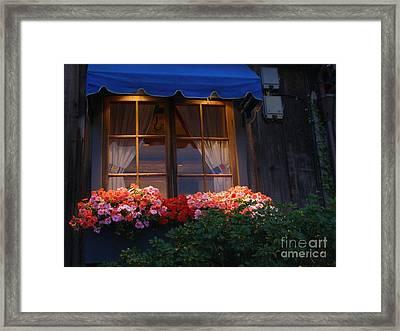 Ristorante Framed Print by Bev Conover