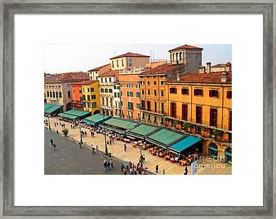 Ristorante Olivo Sas Piazza Bra Framed Print
