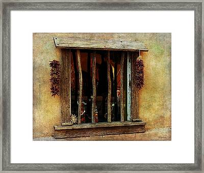 Ristra Window Framed Print by Barbara Chichester