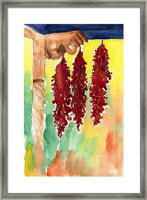Ristras At Taos B And B Framed Print