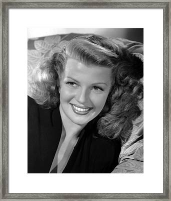 Rita Hayworth, 1946 Framed Print