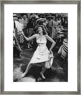 Rita Hayworth Dancing Framed Print by Retro Images Archive