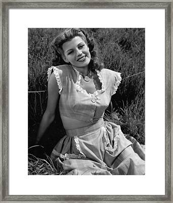 Rita Hayworth Classic Beauty Framed Print by Retro Images Archive