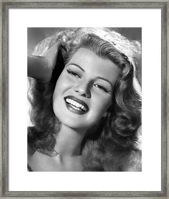 Rita Hayworth Hand In Hair Framed Print by Retro Images Archive