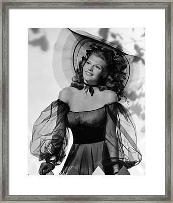 Rita Hayworth In Balck Dress Framed Print by Retro Images Archive