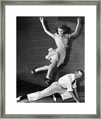 Rita Hayworth Jumping Framed Print by Retro Images Archive