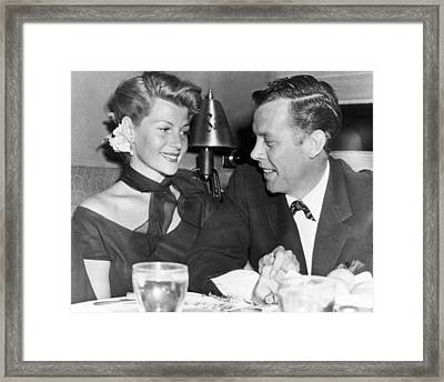 Rita Hayworth Out To Eat Framed Print by Retro Images Archive