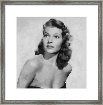Rita Hayworth Poster Framed Print by Dan Sproul