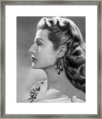 Rita Hayworth Profile  Framed Print by Retro Images Archive