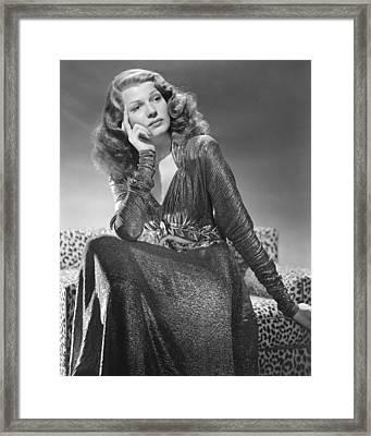 Rita Hayworth Framed Print by Silver Screen