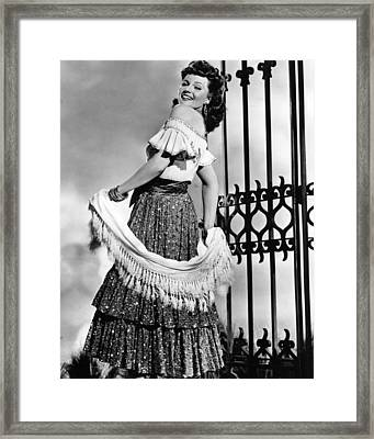 Rita Hayworth Traditional Dress Framed Print by Retro Images Archive