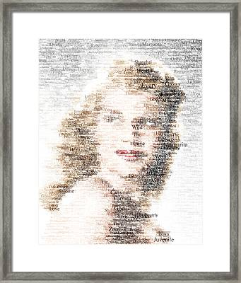 Rita Hayworth Typo Framed Print