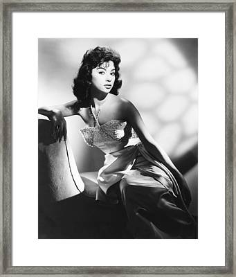 Rita Moreno, Fox Portrait, Circa 1956 Framed Print by Everett