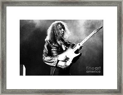 Riitchie Blackmore 1973 Deep Purple Framed Print