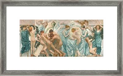 Rite Framed Print by Sartorio Giulio Aristide