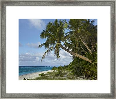 Ritidian Beach In Guam Framed Print