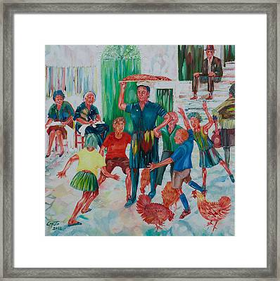 Framed Print featuring the painting Ritorno Dal Forno by Giovanni Caputo