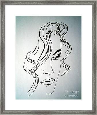 Ritratto Di Una Donna Sconosciuta - Portrait Of An Unknown Woman Framed Print by Ze  Di