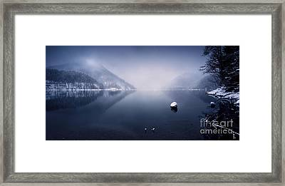 Ritsa Lake In The Snow Covered Framed Print by Evgeny Kuklev
