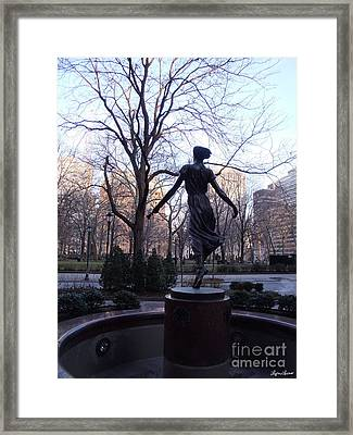 Framed Print featuring the photograph Rittenhouse Square At Dusk by Lyric Lucas