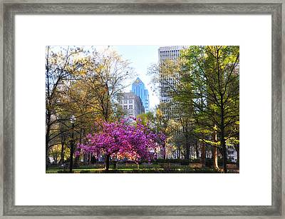 Rittenhouse Square In Springtime Framed Print by Bill Cannon