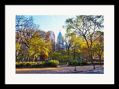 Phila Digital Art Framed Prints
