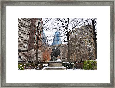 Rittenhouse Square In The Winter Framed Print by Bill Cannon