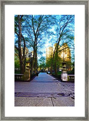 Rittenhouse Square Park Framed Print by Bill Cannon